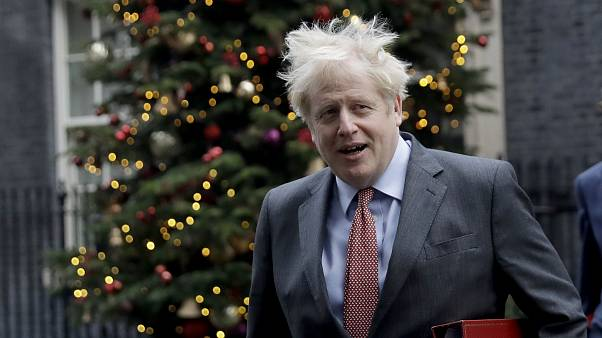 Boris Johnson attends a cabinet meeting with the Foreign, Commonwealth and Development Office