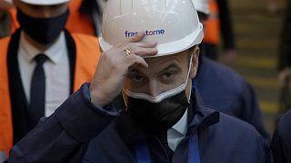 Fransa Cumhurbaşkanı Emmanuel Macron, Le Creusot kentindeki Framatome nükleer reaktör üretim tesisini ziyaret etti