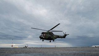 Fransa'da bir kurtarma helikopteri
