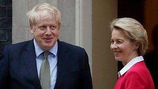 دیدار رئیس کمیسیون اروپا با نخستوزیر بریتانیا در ماه ژانویه سال ۲۰۲۰