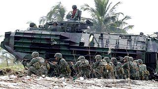 رزمایش نیروهای نظامی فیلیپین