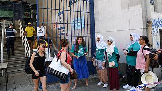Fransa'da başörtülü kadınlar