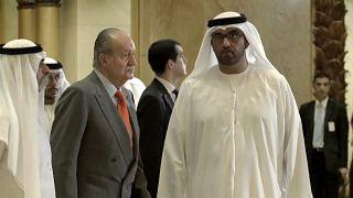 Imagen de archivo del rey emérito Juan Carlos I durante una visita a los Emiratos Árabes Unidos en 2014