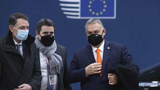 El primer ministro húngaro, Viktor Orbán, a su llegada a la cumbre