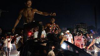 Les partisans de Nana Akufo-Addo jubilent