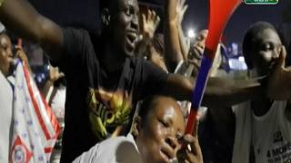 Supporters of Ghanaian President Akufo-Addo Celebrate His Re-election