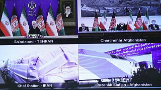 مراسم افتتاح خط راه آهن خواف ــ هرات