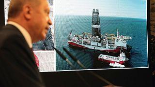 کشتی اکتشافی ترکیه در آبهای مدیترانه