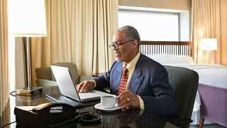 Working from hotels to avoid the distraction from home is a travel trend of 2021.