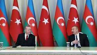 Cumhurbaşkanı Erdoğan ile Azerbaycanlı mevkidaşı Aliyev