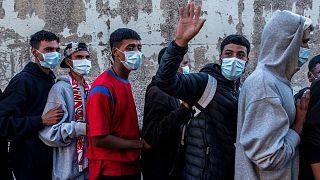 مهاجرانی که به اسپانیا وارد شده اند
