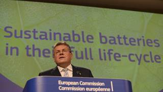 European Commission proposes stricter regulation on batteries in the EU market.