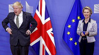 Boris Johnson and Ursual von der Leyen meet in Brussels on Wednesday 9th December