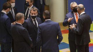 Les dirigeants de l'UE réunis lors d'un sommet européen à Bruxelles le 10 décembre 2020