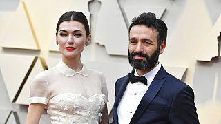 Marta Nieto y Rodrigo Sorogoyen llegan a la gala de los premios Óscar, el domingo 24 de febrero de 2019, en el Teatro Dolby en Los Ángeles.