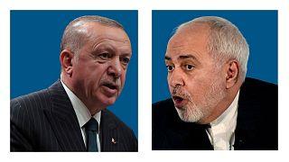 رجب طیب اردوغان، رئیس جمهوری ترکیه و جواد ظریف، وزیر امور خارجه ایران