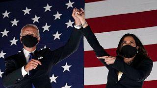 جو بایدن، رئیس جمهوری منتخب آمریکا و معاونش کامالا هریس