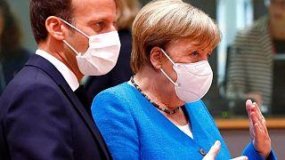 Emmanuel Macron ve Angela Merkel