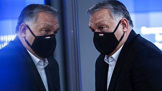 Orbán Viktor a brüsszeli uniós csúcson 2020. december 11-én