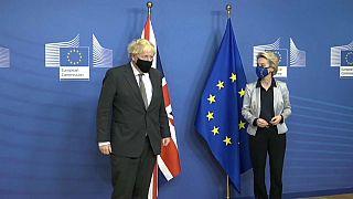 Boris Johnson et Ursula Von der Leyen à Bruxelles