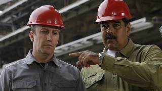 Venezuela Petrol Bakanı Tareck El Aissami ve Devlet Başkanı Nicolas Maduro