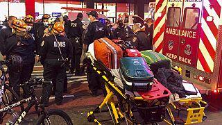 Equipos de emergencia en la zona del atropello en Nueva York