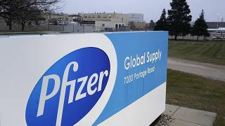 The Pfizer Global Supply Kalamazoo manufacturing plant is shown in Portage, Mich., Friday, Dec. 11, 2020.