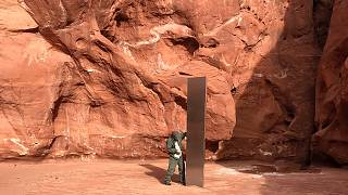 Az elsőként felfedezett utahi monolit 2020. november 18-án