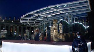ویدئو؛ نمایش صحنه تولد عیسی و روشن شدن درخت کریسمس در واتیکان