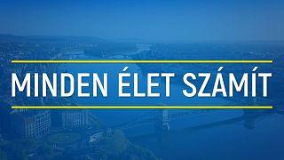 """A """"Minden élet számít"""" magyar kampányplakátja"""