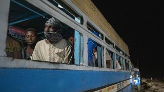 Tigrinyan refugees, who fled Ethiopia's conflict, arrive in convoys from Village 8 near the Lugdi border crossing, at Umm Rakouba refugee camp in Qadarif, eastern Sudan.