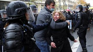 Dozens arrested at protests in Paris against security law banning filming police