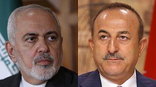 İran Dışişleri Bakanı Zarif ile Türkiye Dışişleri Bakanı Çavuşoğlu