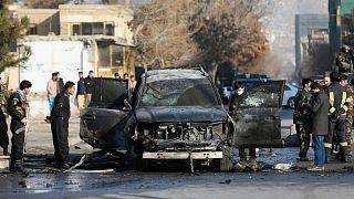 حمله به یک خودروی زرهی در کابل