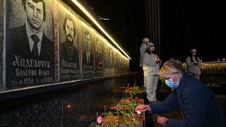 Çernobil kazası kurbanlarının anıtı