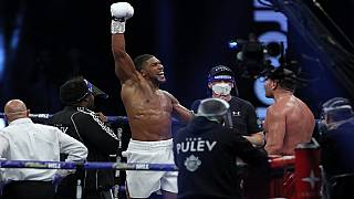Anthony Joshua retains titles after knocking out Kubrat Pulev