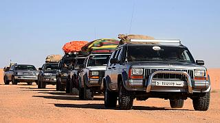 Libyan 4WD enthusiats ride through bumpy Sahara desert to revive tourism