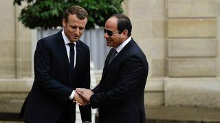 Fransa Cumhurbaşkanı Emmanuel Macron ile Mısır Cumhurbaşkanı Abdülfettah el-Sisi (Arşiv)