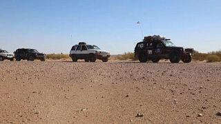 Eine Karawane von Inlandstouristen in Libyen