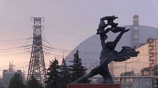 La centrale de Tchernobyl, décembre 2020
