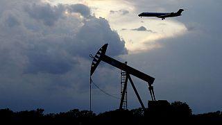 تاسیسات استخراج نفت در شهر اوکلاهامای آمریکا