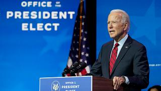 President-elect Joe Biden speaking in Delaware earlier this month