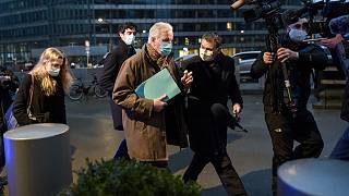 European Union's negotiator Michel Barnier arrives for a meeting of the representatives of the Governments of the EU Member States, Brussels, December 14, 2020.