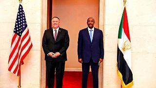 دیدار مایک پمپئو با رئیس شورای حکومتی سودان