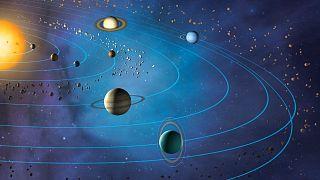 تصویر شماتیک منظومهٔ شمسی