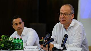 Navracsics Tibor sajtótájékoztatót tart Veszprémben, 2020. augusztus 6-án