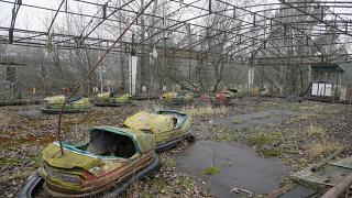 FILE: A playground in the deserted town of Pripyat, Ukraine, some 3 kilometers from the Chernobyl nuclear power plant Ukraine, Nov. 27, 2012.