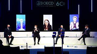 OECD in Paris: Macron fordert erneut Digitalsteuer
