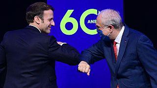 Emmanuel Macron e Ángel Gurría