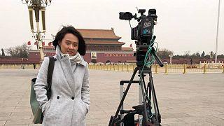 هاز فان، مساعدة صحفية صينية تعمل لصالح شبكة بلومبرغ الإخبارية.